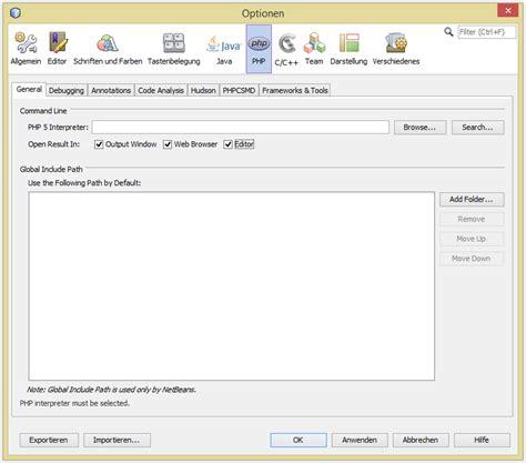 php tutorial on netbeans netbeans ide php schnellstart tutorial doku das myoos