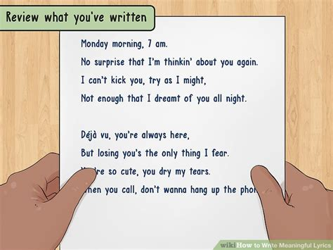 that i you testo how to write meaningful lyrics with pictures wikihow