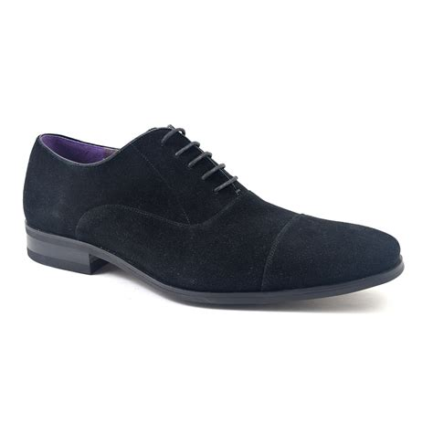 black suede oxford shoes buy mens black suede oxford shoes gucinari style