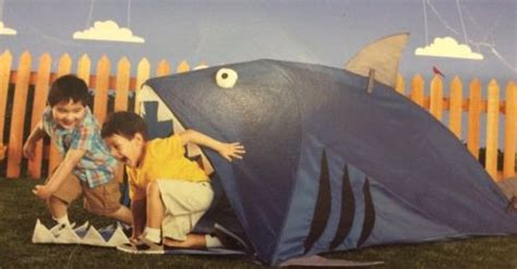 backyard discovery shark kid s tent durable polyester easy