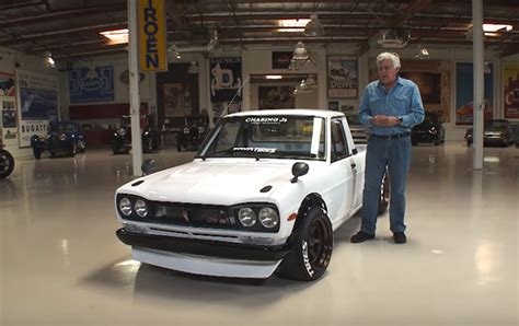 datsun truck leno drives a datsun truck that looks like a