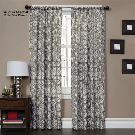 geometric pattern curtain panels corella geometric patterned curtain panel