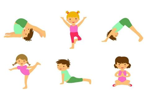 kids yoga clipart   cliparts  images
