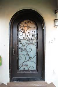 Iron And Glass Front Doors Custom Iron And Frosted Glass Front Door