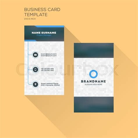 Vertical Business Card Template by Black Vertical Business Cards Image Collections Card