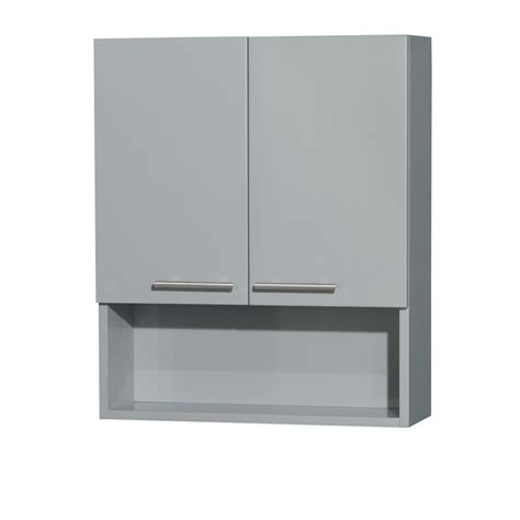 Bathroom Wall Mounted Cabinets Wyndham Wcryv207dg Amare Bathroom Wall Mounted Storage Cabinet In Dove Gray Two Door