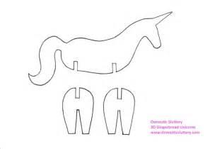 unicorn template domestic sluttery how to make 3d gingerbread unicorns