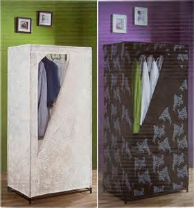quality single canvas wardrobe clothes cupboard hanging