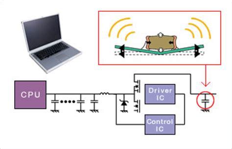 capacitor acoustic noise exles of noise countermeasures murata manufacturing co ltd