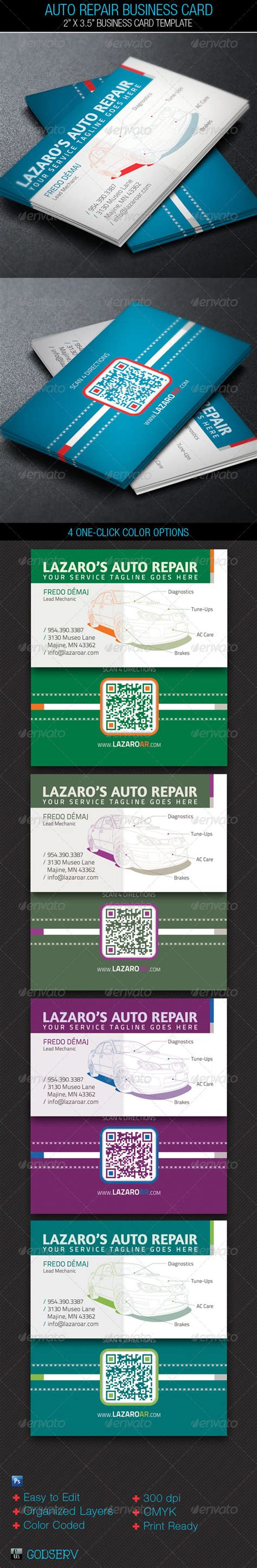 service card template auto repair service business card template on behance