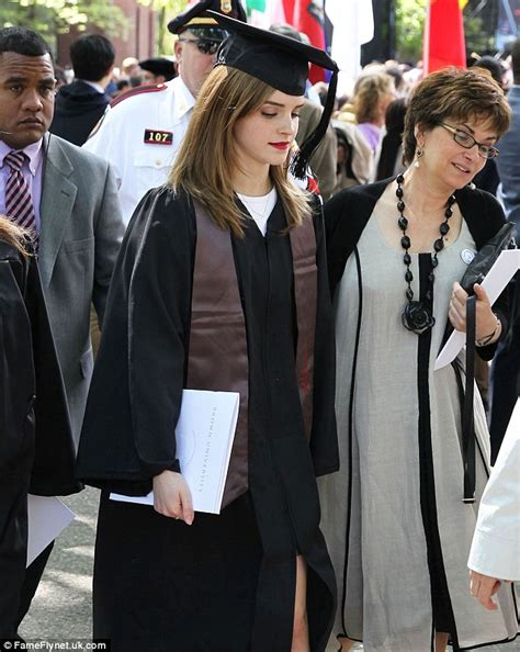emma watson graduation dress emma watson graduates brown university with armed guard