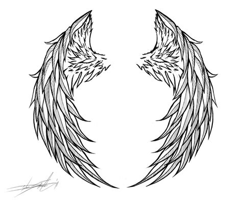 black and white angel wings tattoo designs wings by streetz86 on deviantart