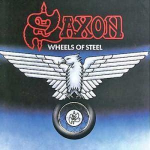 Kaos Fangkeh Saxon Wheels Of Steel saxon wheels of steel la mirada negra
