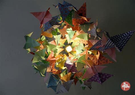 lustre papier japonais diy mon nouveau lustre tout en origamis poc a poc