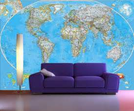 cheap wall murals uk self adhesive world map decorating photo wall mural