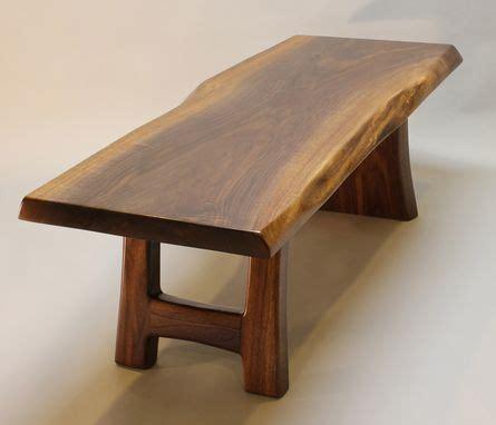 handmade black walnut live edge coffee table by j r