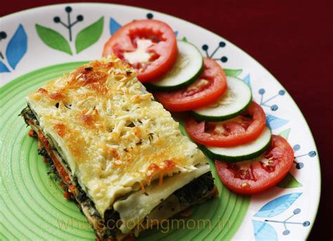 Vegetarian Lasagna With Cottage Cheese by Vegetarian Spinach Lasagna Whats Cooking