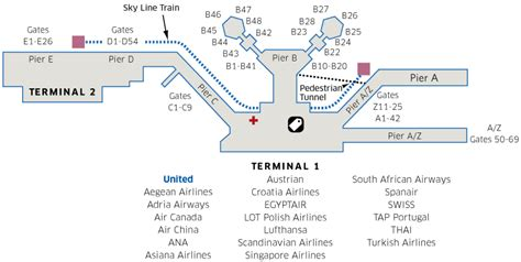 frankfurt airport map frankfurt international fra airport map united airlines