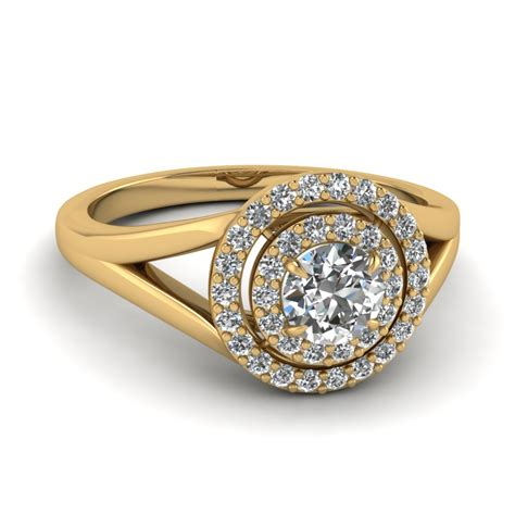 look sophisticated with halo engagement rings