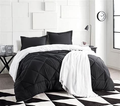 black and white twin xl bedding black white reversible twin xl comforter