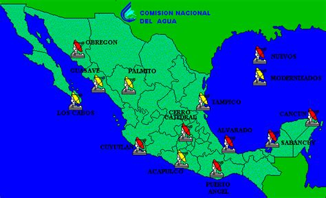 weather map usa and mexico mexiko wetterkarte