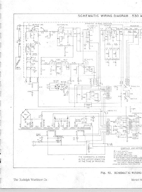 WURLITZER MODEL 2000 Service Manual download, schematics