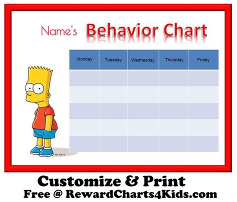 free printable reward charts spongebob pin spongebob behavior chart on pinterest