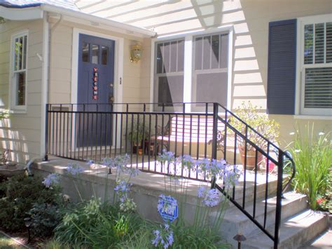 outdoor banister design for metal deck railings ideas 26054