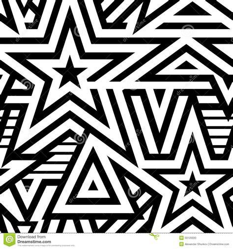pattern black and white modern modern seamless stars background stock vector image