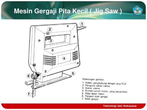 Mesin Asah Gergaji Pita ppt peralatan tangan dan listrik powerpoint presentation