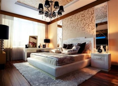 ideas  attractive wall design   bed