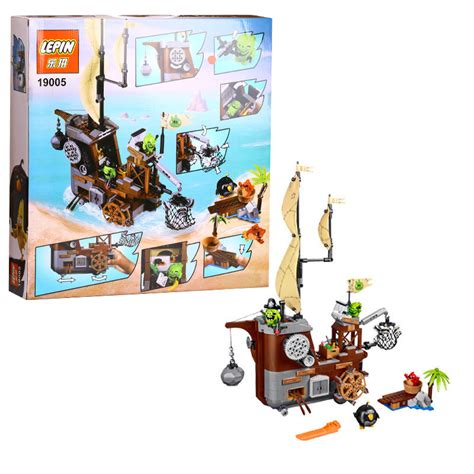 Block Lepin 19005 Angry Birds Piggy Pirate Ship buy wholesale pirate green from china pirate green wholesalers aliexpress