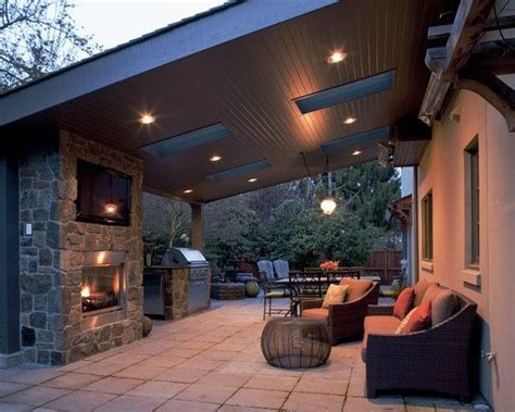covered outdoor living spaces slanted roof covered patio outdoor home pinterest
