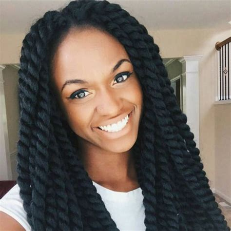 a large twist in straight hair 40 big box braids styles herinterest com