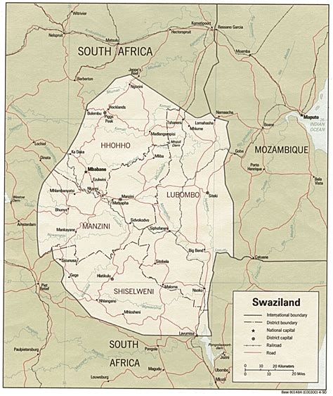 swaziland map swaziland maps perry casta 241 eda map collection ut library