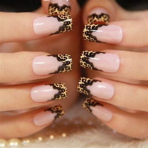 stylish leopard  cheetah nail designs