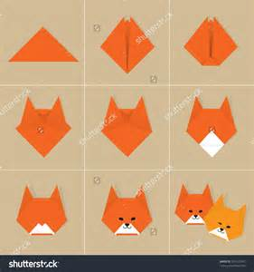 Origami Fox Advanced - origami how to make a origami fox origami tutorial papier
