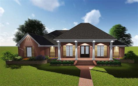 house plans with a porch attractive acadian with grand rear porch 83878jw architectural designs house plans