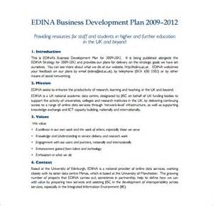 developing a business plan template 14 development plan templates free sle exle