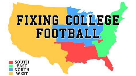 college map improve college football by realigning conferences and