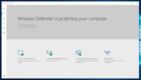 windows for windows defender hub app for windows 10 pc and tablet now