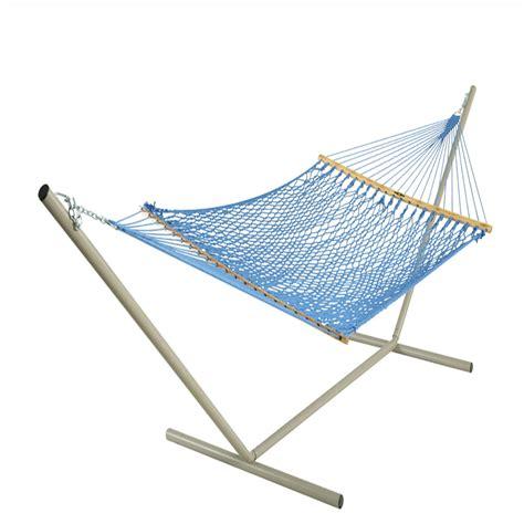 rope hammock large original coastal blue duracord rope hammock pawleys island