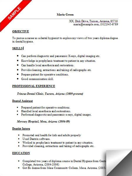 dental hygienist resume template 157 best resume exles images on resume