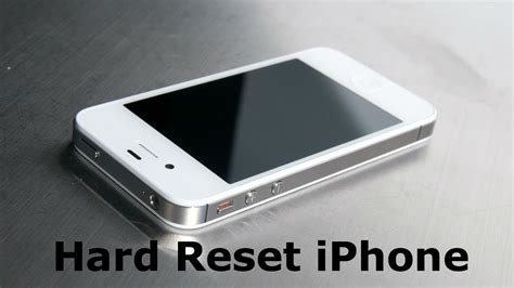 factory reset the iphone 4s hard reset iphone youtube