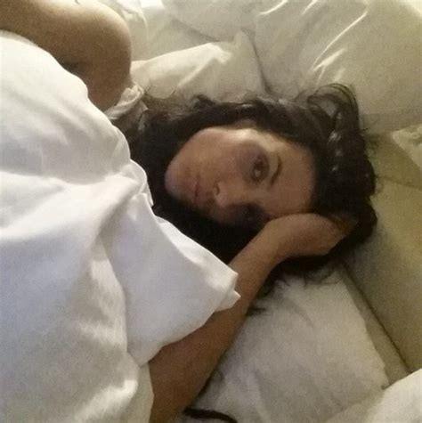 selfie in bed image hot french wag ludivine sagna takes bed selfie
