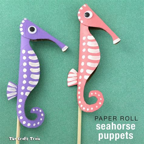 seahorse crafts for paper roll seahorse puppets seahorses puppet and craft