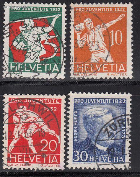 Schweiz Briefmarken Kaufen Briefmarken Schweiz Michel Nr 262 265 Pro Juventute 1932 Gestempelt G 252 Nstig Kaufen Im