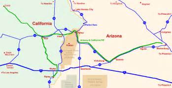 arizona california map