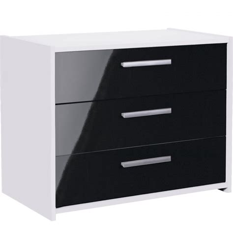 sywell bedroom furniture sywell black gloss white 3 draw chest 643 9039