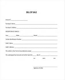 sample dmv bill of sale forms 8 free documents in pdf
